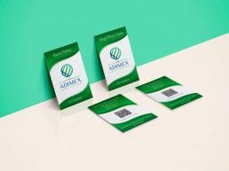diseño tarjetas visita para empresa Adimex