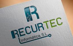 logotipo empresa informatica recurtec. diseño gráfico bilbao lorea espada