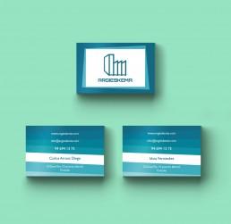 Diseño de tarjetas de empresa para Argieskema.