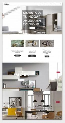 Página web de la tienda de muebles Villabaso