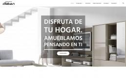 Página de inicio de la web de Expomuebles Villabaso.